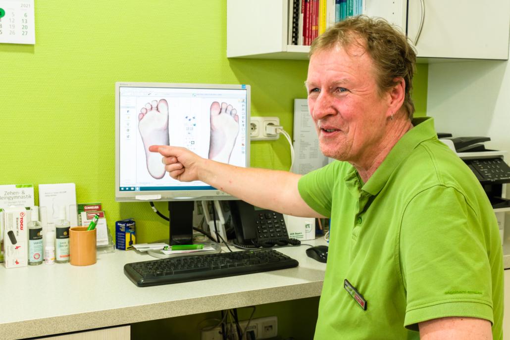 Cornelius Gesunde Schuhe digitaler Fußabdruck